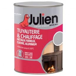 Peinture Tuyauterie et chauffage - Aluminium satiné - 250 ml - JULIEN