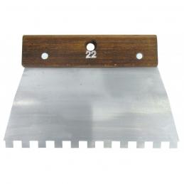 Peigne en acier Cambre - 22 cm - Denture carrée 10 x 10 mm - 8 x 8 mm - OUTIBAT