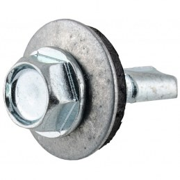 Vis tête hexagonale autoforeuse + rondelle acier zingué - 6.3 x 25 mm - FIX'PRO