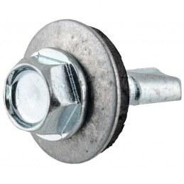 Vis tête hexagonale autoforeuse + rondelle acier zingué - 6.3 x 38 mm - FIX'PRO