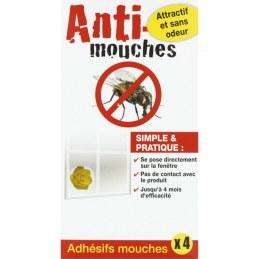 Adhésif attrape-mouches - 4 adhésifs- FLORENDI