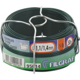 Fil d'attache grillage - Plastifié vert - 50 m - Ø 1.4 mm - FILGRAF