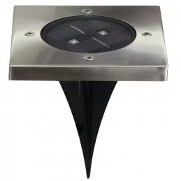 Spot solaire pour sol - Carré - 2 LED - RANEX