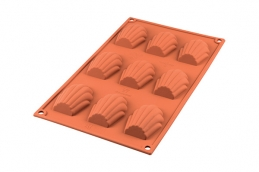 Plaque de moule à madeleine - Silisone - 9 unités - SILIKOMART