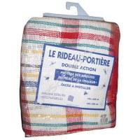 Rideau  de porte en coton - Toulousain Rouge