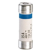 Cartouche domestique cylindrique - 25 A - 31.5 x 10.3 mm - Lot de 10 - LEGRAND
