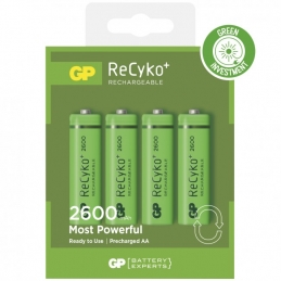 4 piles rechargeables - Recyko 270AAHCE-2GBW4 / AA - GP