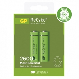 2 piles rechargeables - Recyko 270AAHCE-2GBW2 / AA - GP