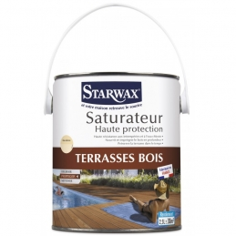 Saturateur Haute protection - Terrasse bois - 2.5 L - STARWAX