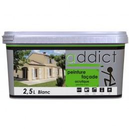 Peinture acrylique pour façade - Blanc - 2.5 L - ADDICT