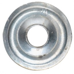Rosace plate en acier - Ø 26 mm - Lot de 10 - FIX'PRO