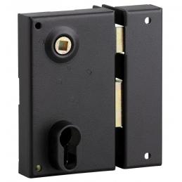 Serrure applique verticale - pour cylindre profilé - Droite - 125 x 73 mm - THIRARD