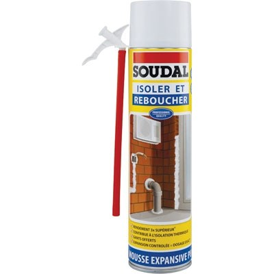 Mousse expansive pour isolation et calfeutrage - 500 ml - SOUDAL