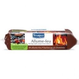 Allume-feu cheminée, barbecue 100% naturels de 84 carrées - STARWAX