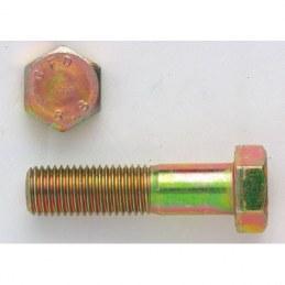 Boulon Tête Hexagonale 8/8 Zingué jaune - 20 x 140 mm - Boîte de 25 - GFD