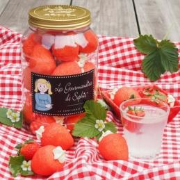 Bocal de grosses fraises - 450 Grs - LES GOURMANDISES DE SOPHIE