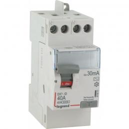 Interrupteur différentiel bipolaire - Type AC 30mA arrivée haut/départ haut 40 A - LEGRAND