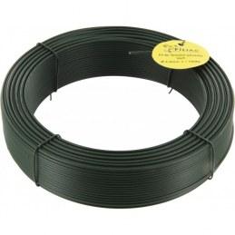 Fil de tension pour grillage - Acier galvanisé plastifié - Vert - 50 M x 2.4 mm - FILIAC