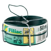 Bobine de fil galvanisé plastifié N°3 - Vert - FILIAC