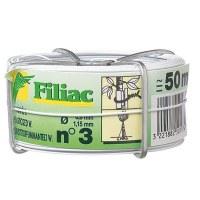 Bobine de fil galvanisé plastifié N°3 - Blanc - FILIAC