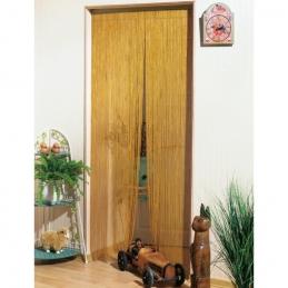 Rideau de porte en Bambou - Peint à la main - Naturel - 100 x 220 cm - MOREL