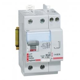 Interrupteur différentiel bipolaire - Type AC 30mA arrivée haut/départ haut 63 A - LEGRAND