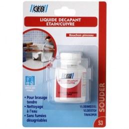 Décapant liquide - Étain / Cuivre - 50 ml - GEB