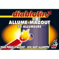 Allume mazout avec bout allumette - 50 pièces - DIABLOTIN