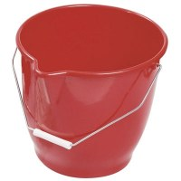 Sau en plastique rouge - 12 L
