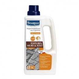 Imperméabilisant eau et graisses - Toitures, Murs et sols - 1 L - STARWAX