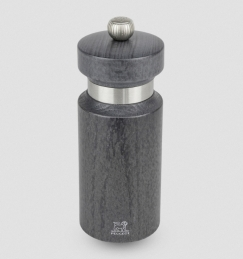 Moulin à sel manuel en bois finition gris métallisé et inox - 14 cm - Royan - PEUGEOT