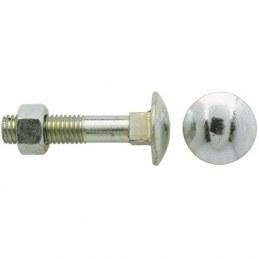 Boulon Japy tête ronde collet carré - Ø 5 x 40 mm - Lot de 4 - FIX'PRO