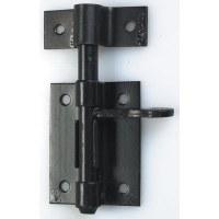 Verrou de box à gland avec gâche - Ø 8 mm - Noir - MERMIER