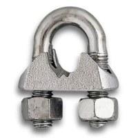 Serre câble étrier en acier - Lot de 5 - Ø 14 mm