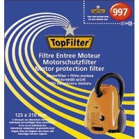 Filtre entrée moteur pour aspirateur - 125 x 310 mm - TOP FILTER