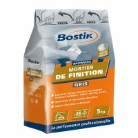 Mortier de finition - Gris - 5 Kgs - BOSTIK