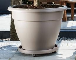 Support de pot à roulettes - planttaxi universel - 40 cm - Taupe - ELHO