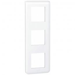 Plaque avec support Mosaic - pour 3 x 2 modules montage vertical - Blanc - LEGRAND