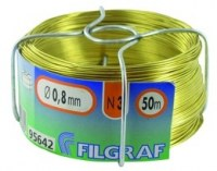 Fil d'attache Filgraf - Laiton - 50 m - ø0.8 mm 311571 [Divers]