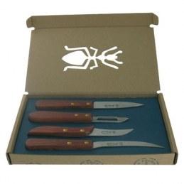 Coffret 3 couteaux + 1 éplucheur - LA FOURMI