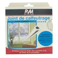 Joint de calfeutrage - Blanc - 6 M - PVM