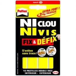 Adhésif double-face Fix&Defix - Pastilles - Ni clou ni vis - PATTEX