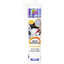 Mastic blanc pour maçonnerie / fissures - 310 ml - PVM
