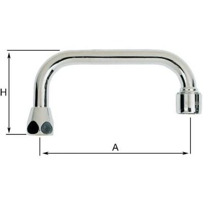 Bec standard par dessus chrome - 14 mm