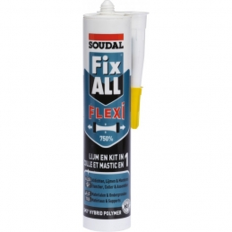 Mastic Fix All Classic Flexi - Blanc - Cartouche gachette 290 ml - SOUDAL