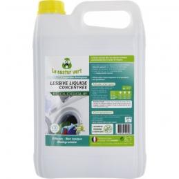 Lessive liquide concentrée biodégradable - 5 L - LE CASTOR VERT