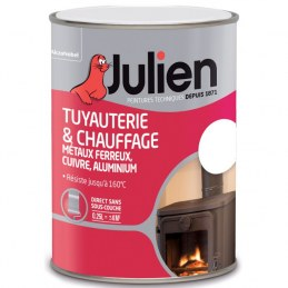 Peinture Tuyauterie et chauffage - Blanc Brillant - 250 ml - JULIEN