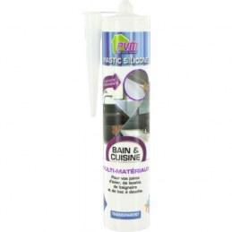 Mastic translucide pour salle de bains - 310 ml - PVM