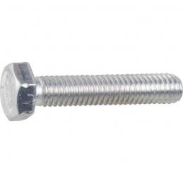 Vis à métaux - Filetage total - Tête hexagonale - Acier zingué - 80 x 8 mm - Lot de 100 - VISSAL