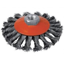 Brosse cuvette - Mèches acier torsadées - 115 mm - SCID